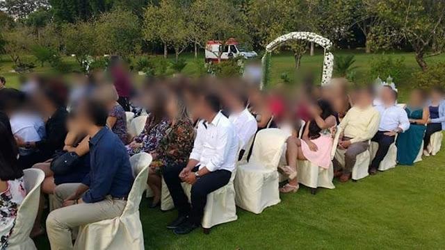 Fotos mostram ambulância do Samu em festa de casamento (Foto: Reprodução/TV TEM)
