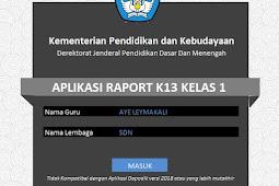 Aplikasi Raport Kurikulum 13 SD Kelas 1, 2, 3, 4, 5, & 6 Edisi Revisi Terbaru Serupa Aplikasi Dapodik