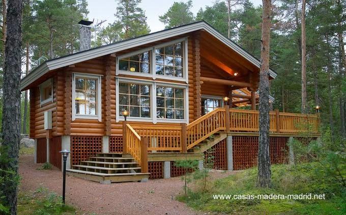 Arquitectura de casas chalets n rdicos construidos de - Casas madera nordicas ...