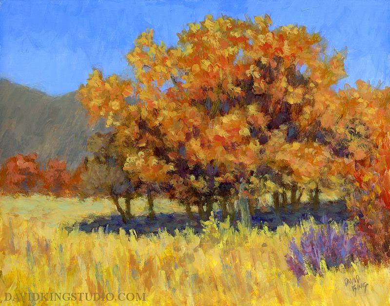 art painting landscape nature autumn fall foliage acylic