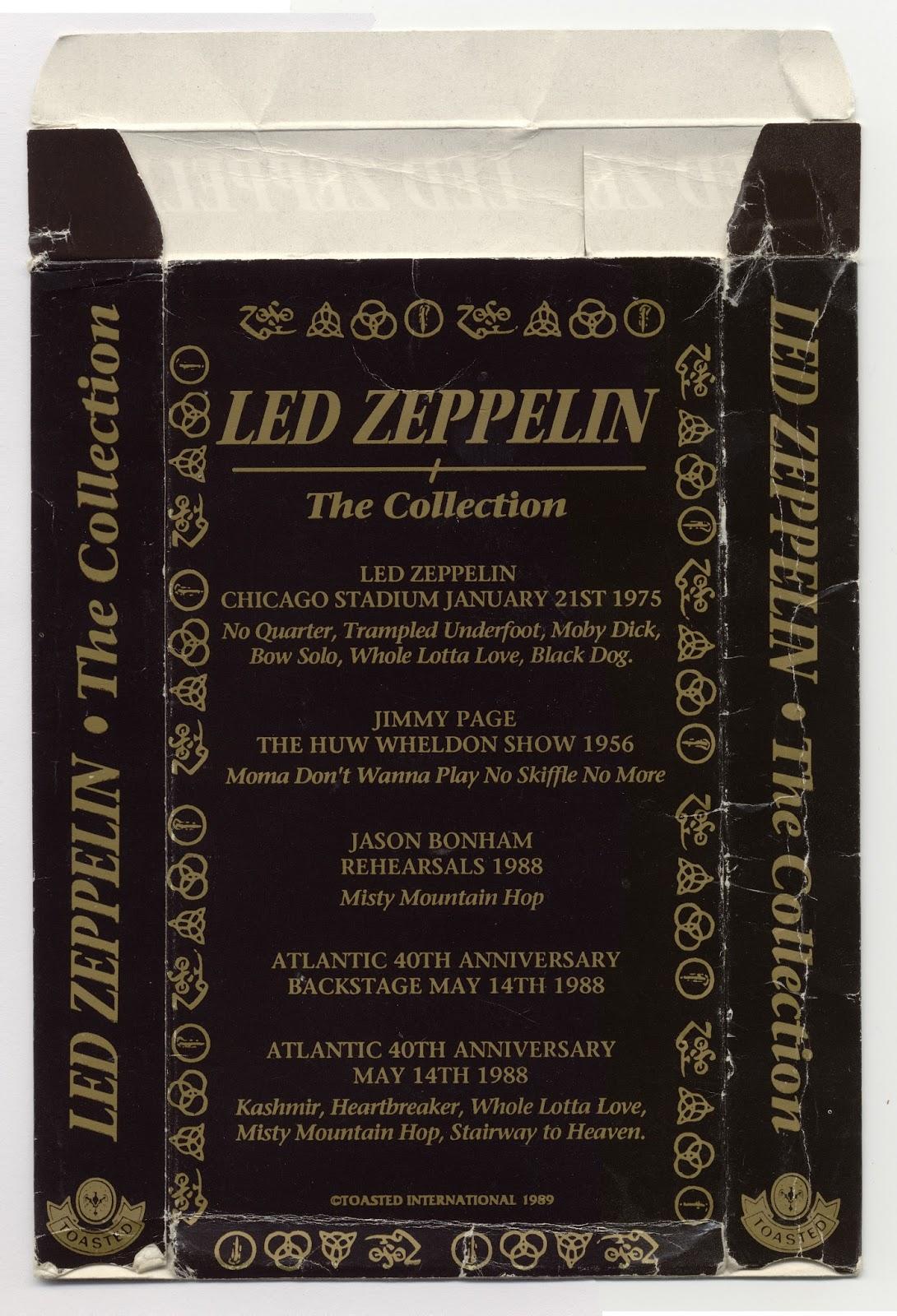 long live led zeppelin led zeppelin the collection toasted video 1990 dvd. Black Bedroom Furniture Sets. Home Design Ideas