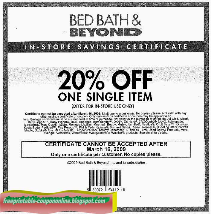 Online you will need a current coupon code, as online will not always accept expired promo codes. Watch warehousepowrsu.ml for up to date coupon codes for Bed Bath & Beyond when you want to shop online. Some coupons may have an expiration date and only be available for a limited time%(K).