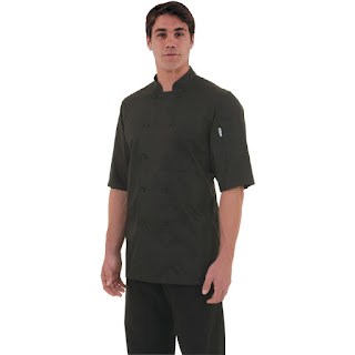 Chef Works Montreal Black Cool Vent Chefs Jacket