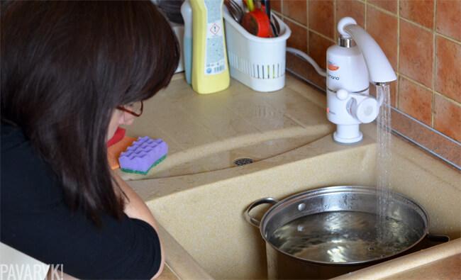 Vandens šildytuvas virtuvėje