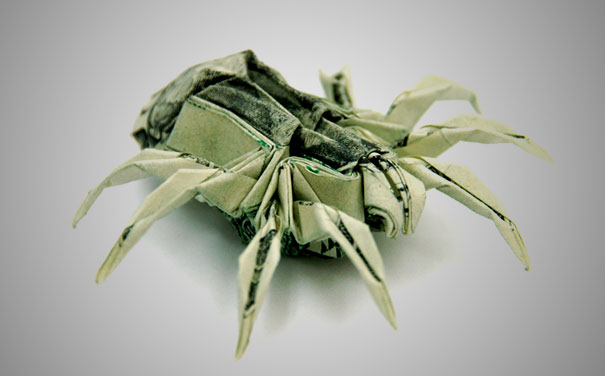 Money-Origami-Spider