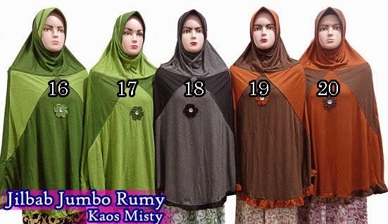 jilbab instan dari bahan kaos misty