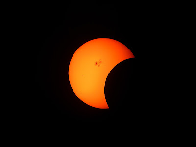 partial solar eclipse normal resolution hd wallpaper