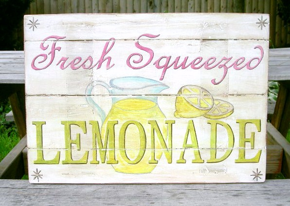 """That's My Letter: """"L"""" is for LemonadeLemonade Sign"""
