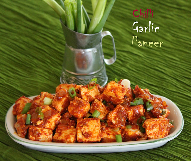 images of Chilli Garlic Paneer / Chilli Paneer Dry Recipe / Hot Chilli Garlic Paneer / Quick And Easy Paneer Recipe