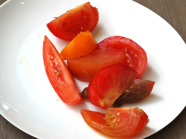 Tomato salad at Darwin brasserie - Sky Garden, London brunch