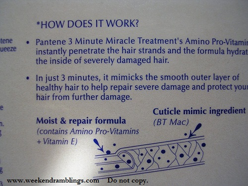 Pantene 3-Minute Miracle Treatment Review