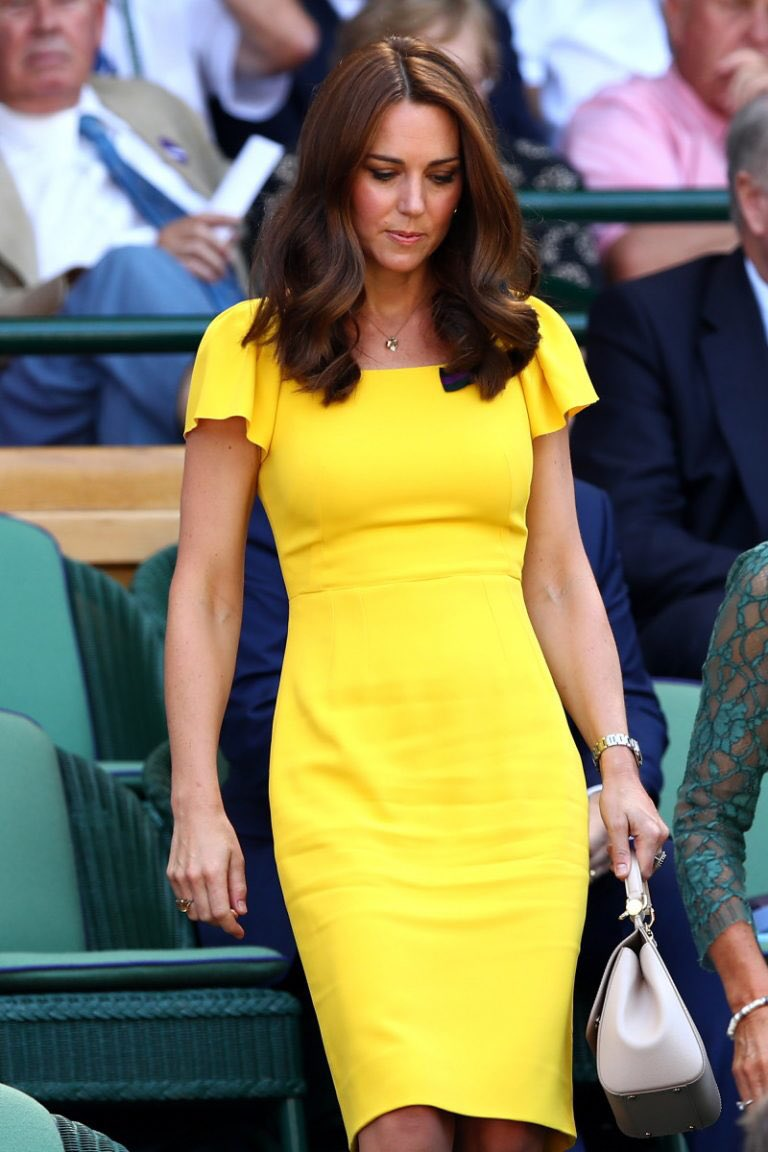 Kate Middleton Steps Out at Wimbledon in a Dolce & Gabbana Dress