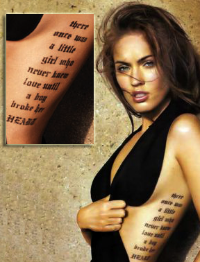 Les Tatouages De Megan Celebrities Tattoo