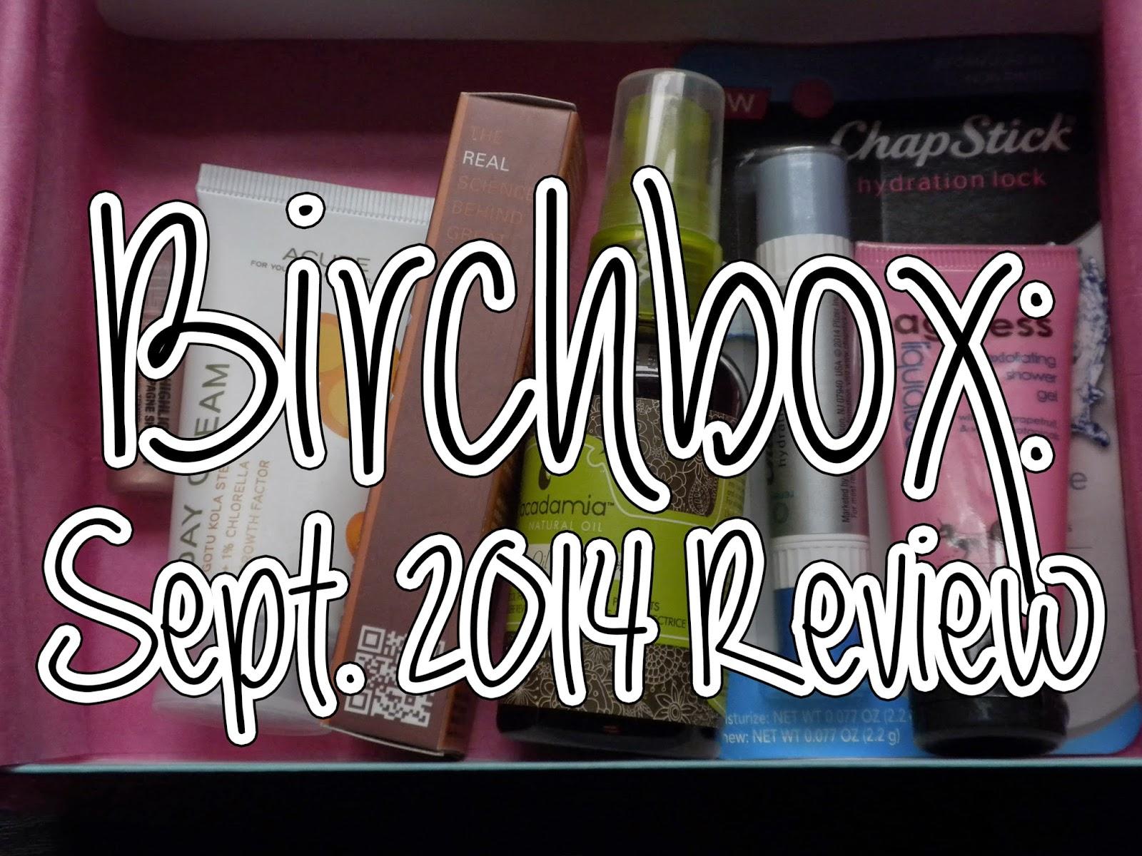 Birchbox: September 2014 Review