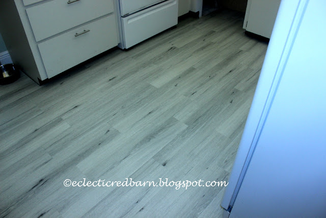 Eclectic Red Barn: New vinyl flooring installed