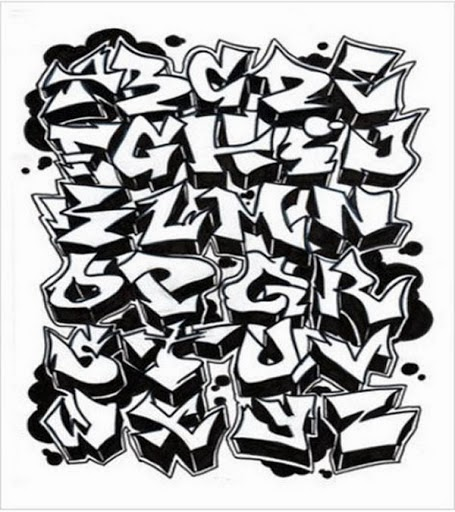 Pictures of Graffiti Alphabet Block Style 3d - #rock-cafe
