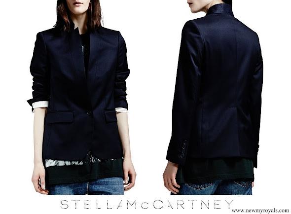 Crown Princess Mette-Marit wore Stella McCartney Stand Collar One Button Blazer