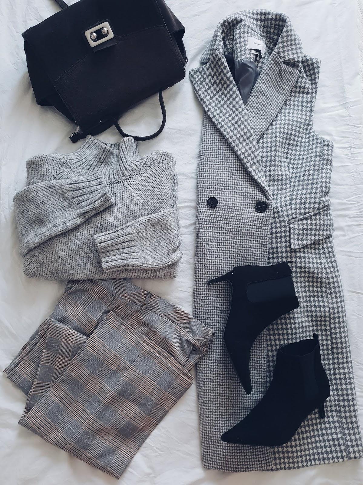 Grey total look czyli kamizelka (płaszcz czy sukienka?) w 2 wersjach