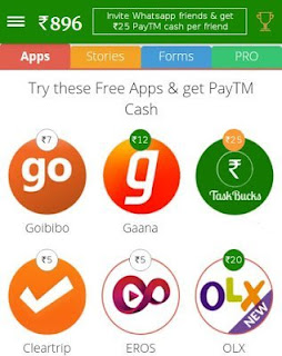 Task buck paytm offers proof