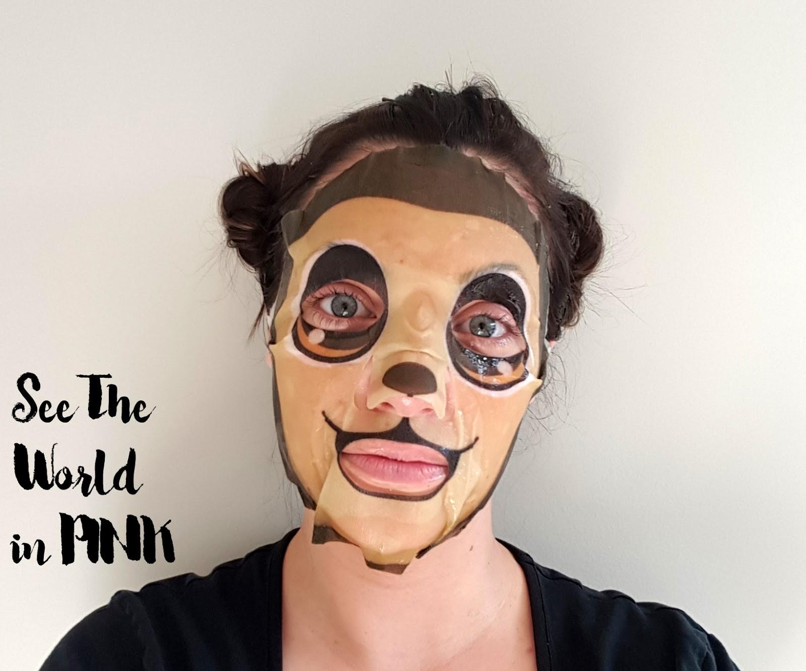 thefaceshop character mask monkey soothing