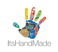 """ItsHandMade-Logo Partecipazione mod. """"Leggiadria""""Colore Bianco Colore Tiffany"""