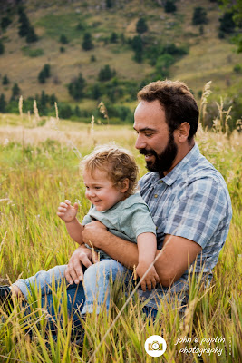 portrait photograph of a father and son in boulder colorado