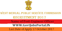 West Bengal Public Service Commission Recruitment 2017–Engineer