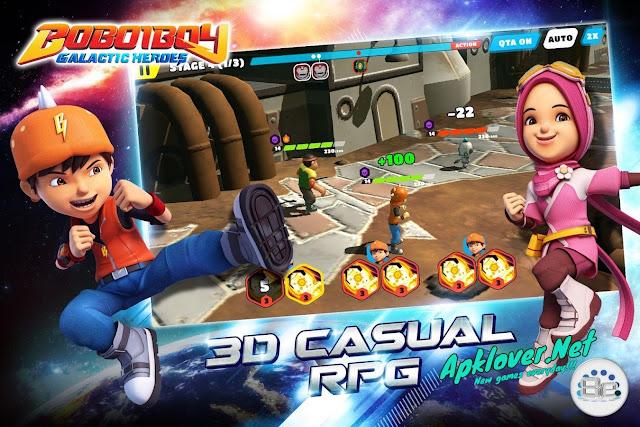 BoBoiBoy Galactic Heroes RPG MOD APK high damage