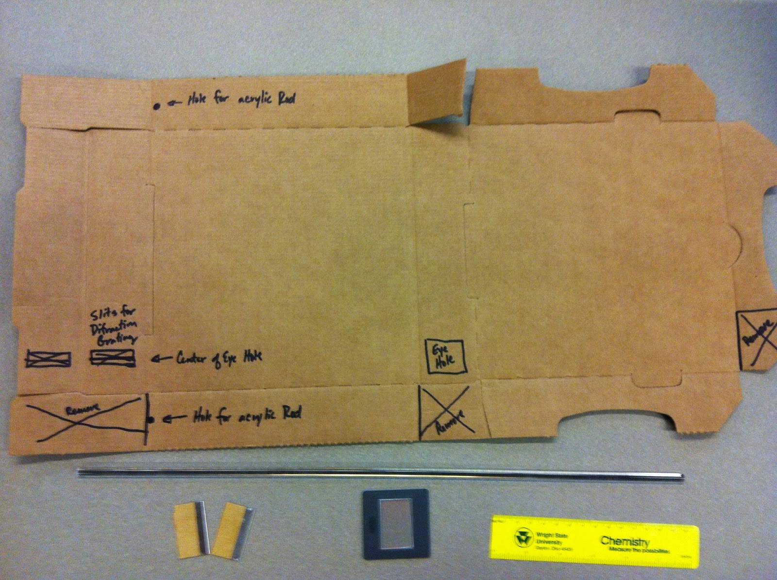 hight resolution of making the pizza box spectroscope