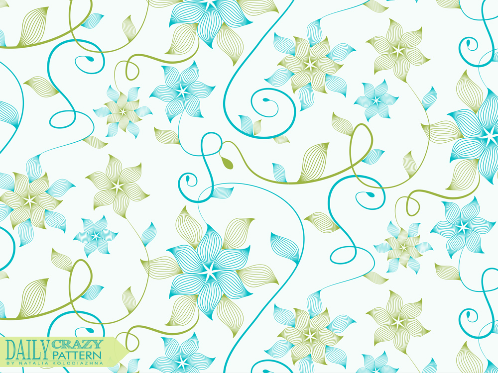 "Cute floral pattern for ""Daily Crazy Pattern"" project"