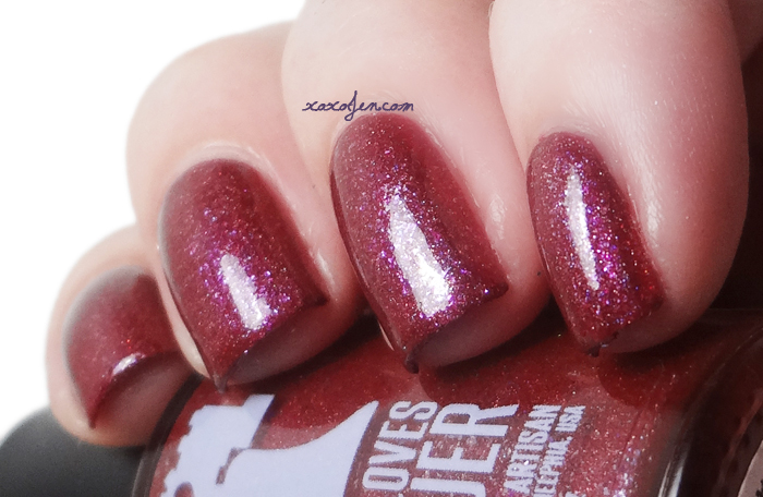 xoxoJen's swatch of Philly Loves Lacquer Fallen Ember