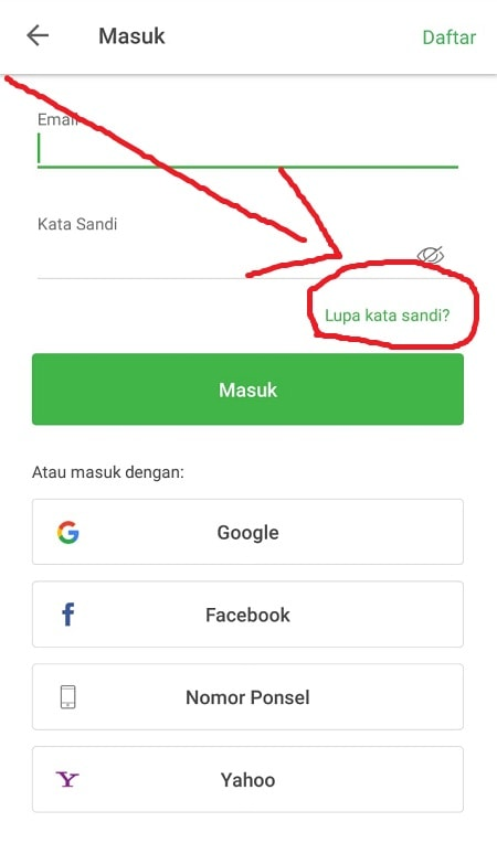 Lupa Password Tokopedia