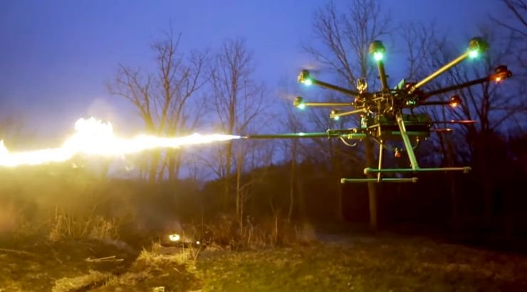 Flamethrower Drones Are The Craziest Thing We've Ever Seen, And They're Going On Sale