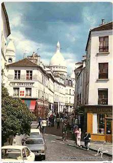 Montmartre, rue Norvins, de nos jours.