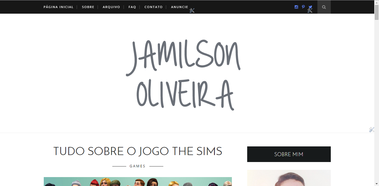 Jamilson Oliveira Blog