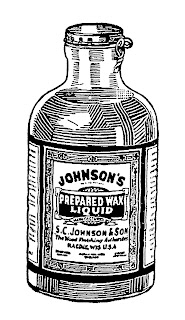 antique cleaning product illustration bottle digital download