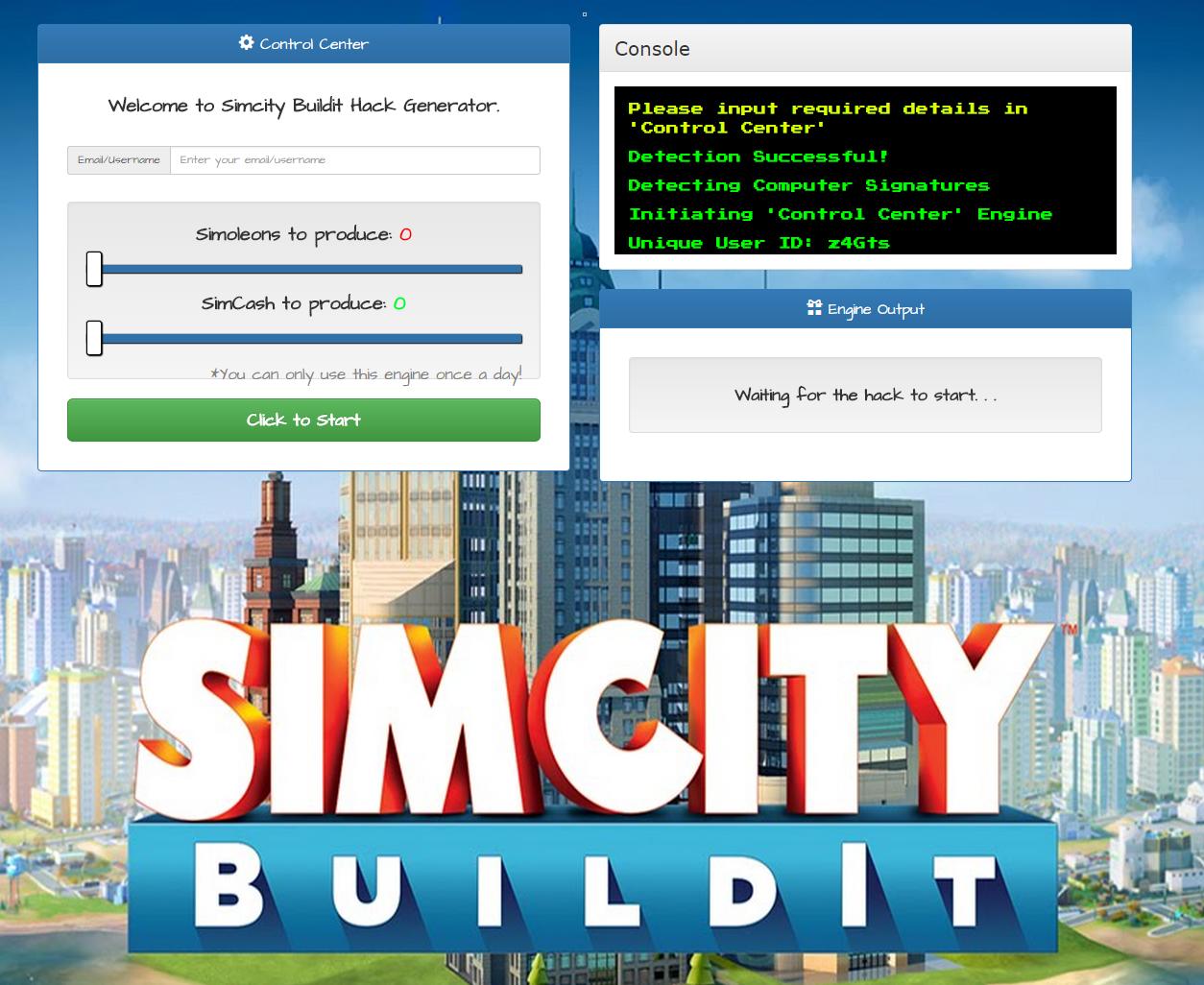 simcity hack tool generator