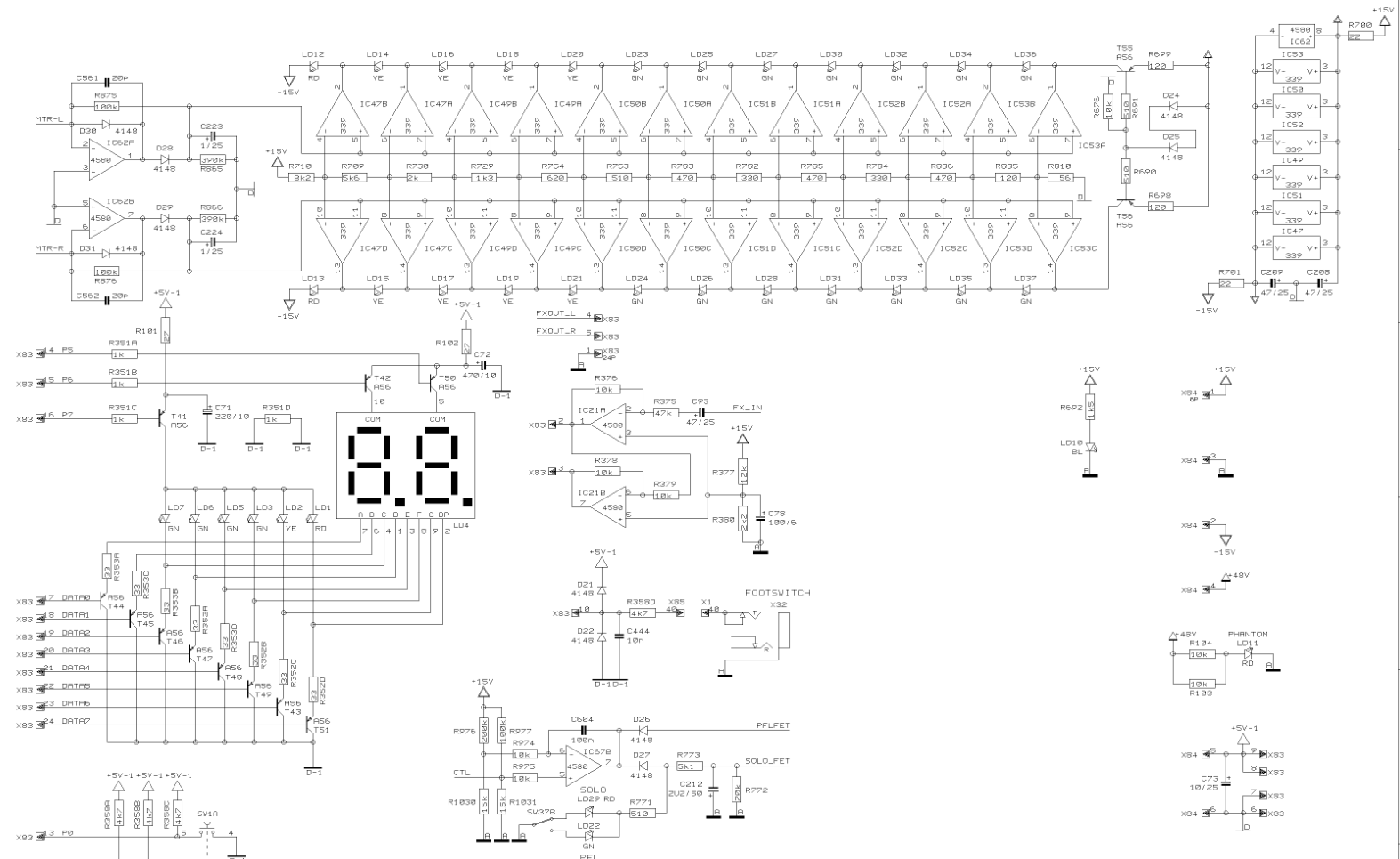 X2442USB Schematic Diagrams Behringer Protect Circut on