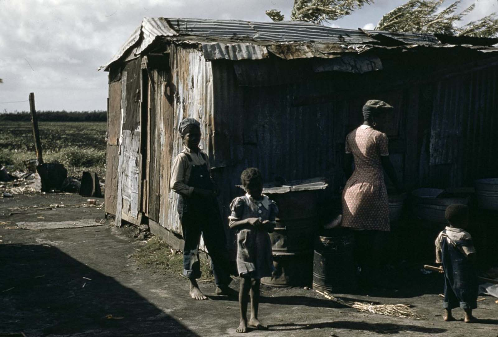 A migrant family in Belle Glade, Florida. 1941.