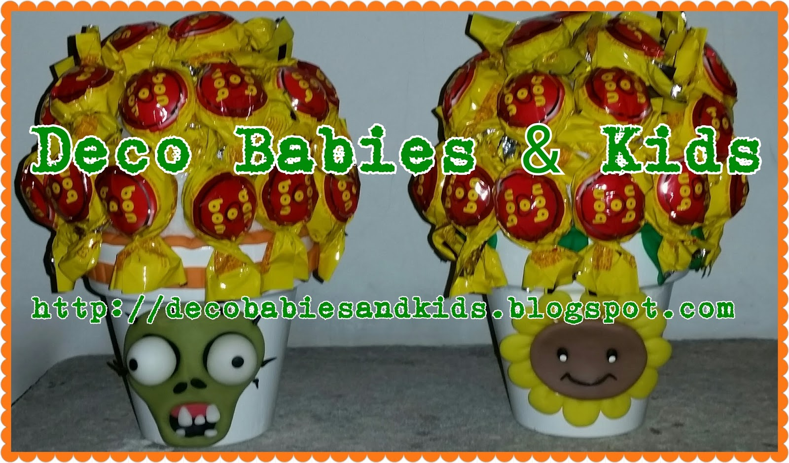 Deco babies kids honguitos dulces plantas vs zombies for Decoracion con globos plantas contra zombies