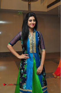 Actress Model Shamili Sounderajan Pos in Desginer Long Dress at Khwaaish Designer Exhibition Curtain Raiser  0058.JPG