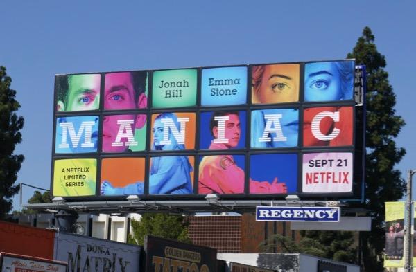 Maniac Netflix series billboard