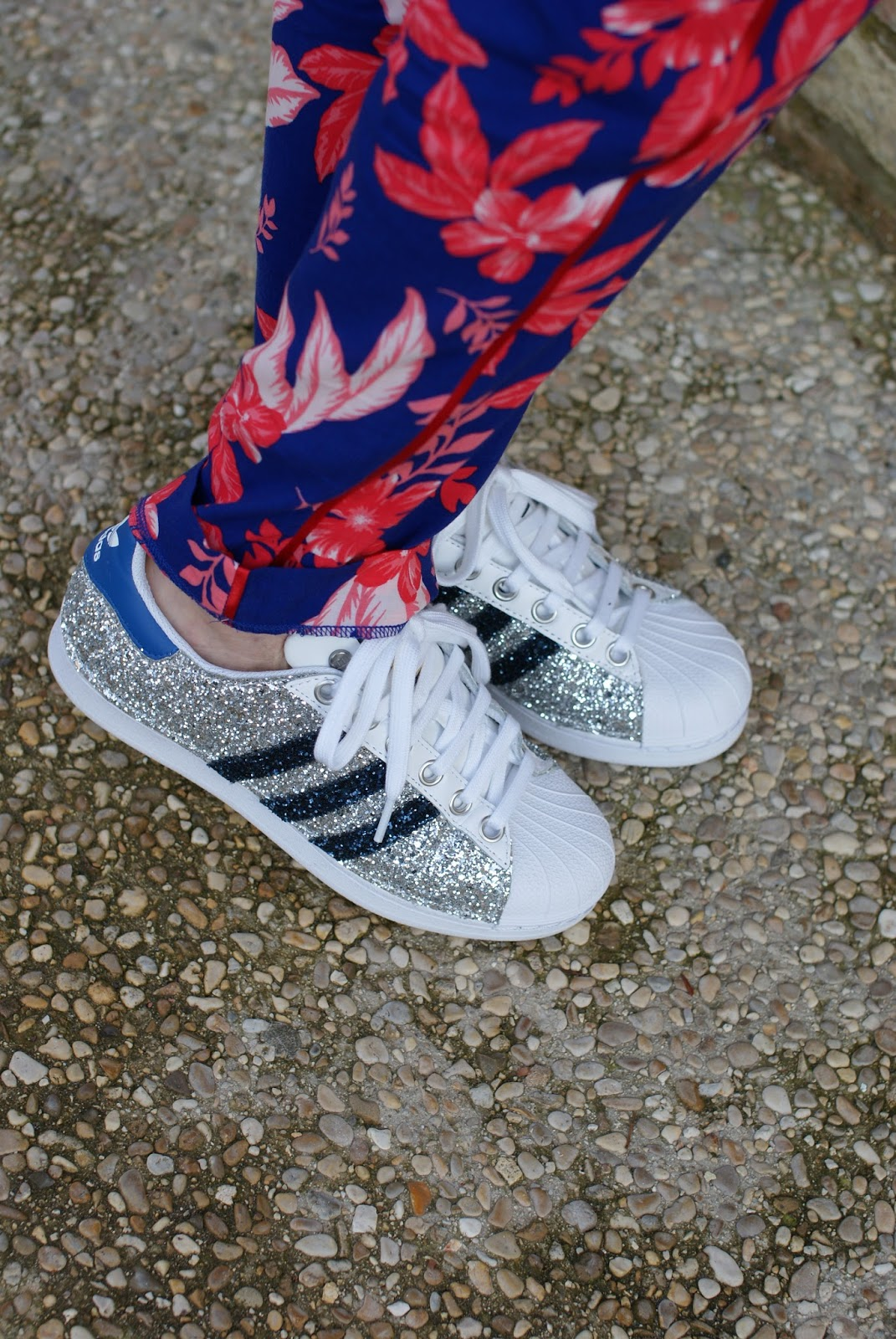 adidas superstar custom glitter sneakers on Fashion and Cookies fashion blog, fashion blogger style