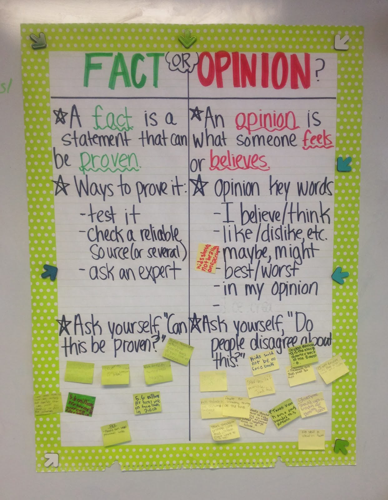 Stuff Students Say And Other Classroom Treasures Great Science Fiction Reads Fact Vs Opinion