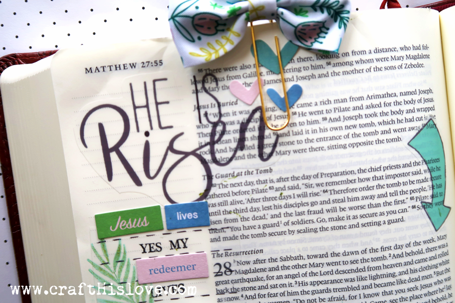 Craft His Love Bible Journaling He Is Risen