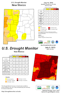 Image of a webshot of a drought map
