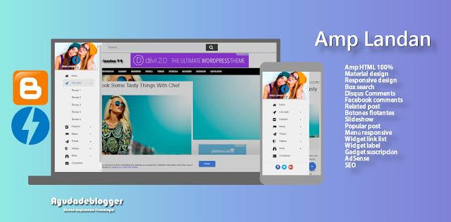 Amp Landan - Premium Amp HTML Blogger template