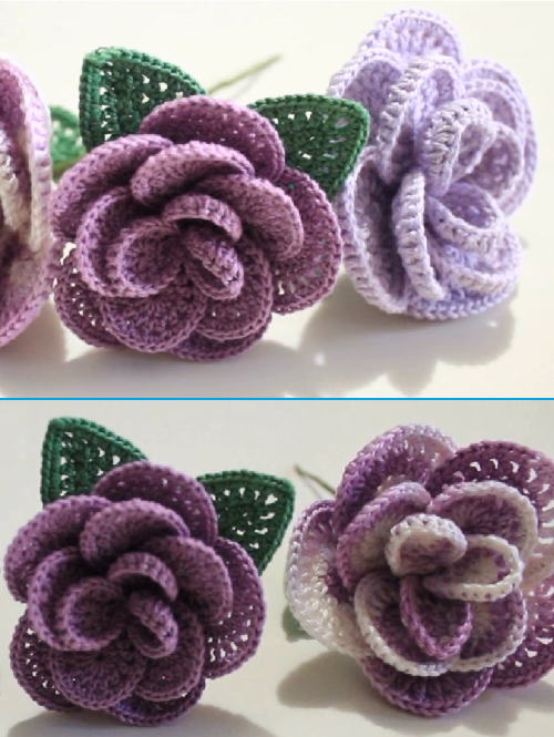 Crochet Rose Step by Step