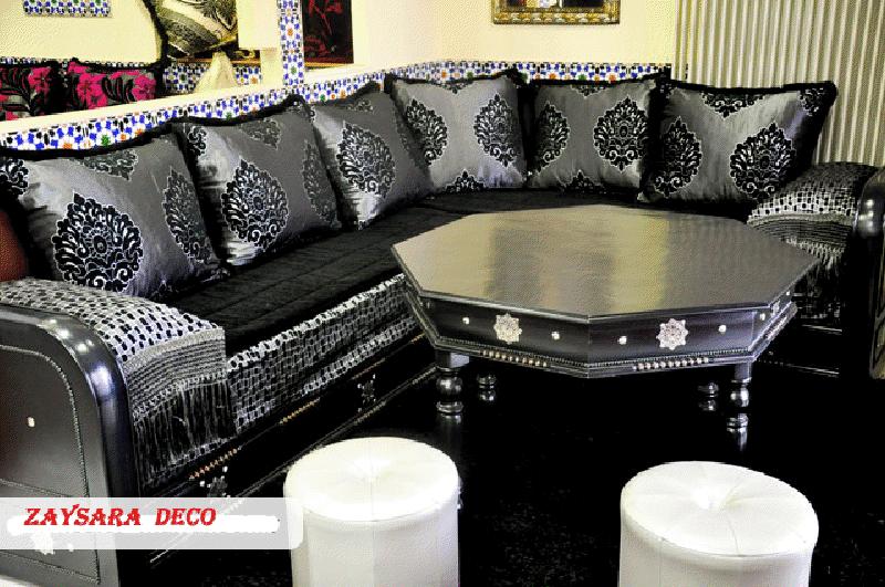 salon marocain salon marocain moderne. Black Bedroom Furniture Sets. Home Design Ideas