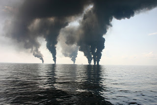 Deepwater Horizon surface oil burning, June 2010 (Credit: David L. Valentine, University of California, Santa Barbara) Click to Enlarge.